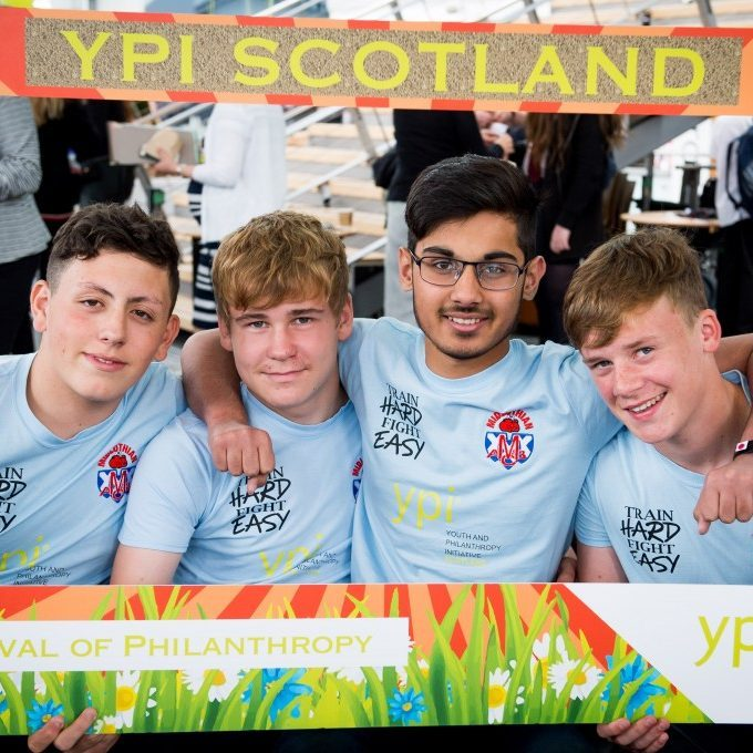 A group of boys posing for YPI Scotland